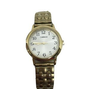 CARRIAGE By TIMEX  Women's WR 30m Gold Tone Stretc